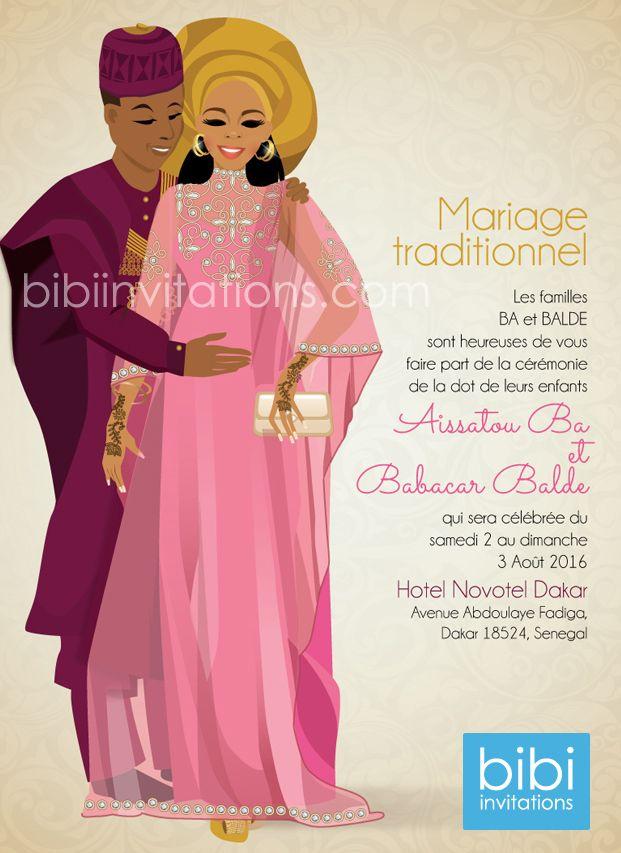 Senegalese Traditional Wedding Invitation: http://www ...
