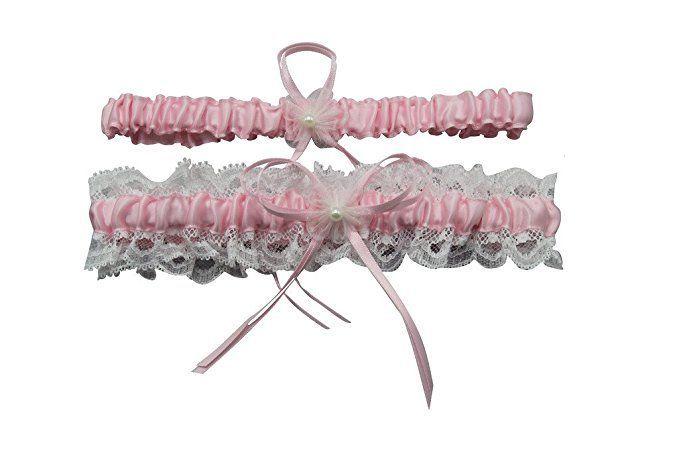 on sale 05f04 b9d3c Rosa Accessoire für die Braut: sexy Strumpfband Beinband ...