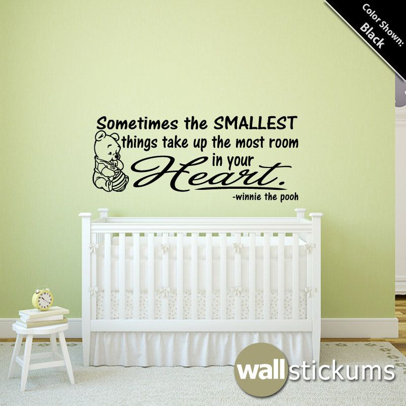 winnie the pooh wall sayings decals for kids | ... .etsy.com/listing ...