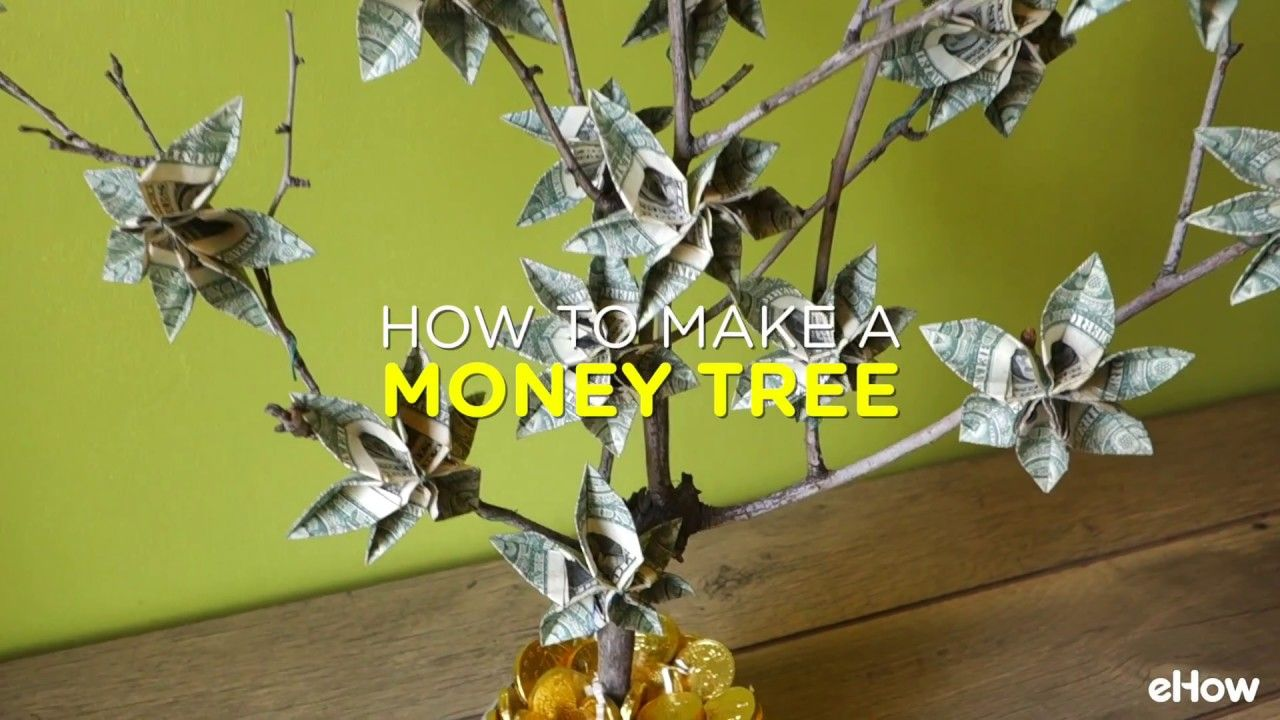 How To Make A Money Tree Origami Pinterest Money Trees And Origami