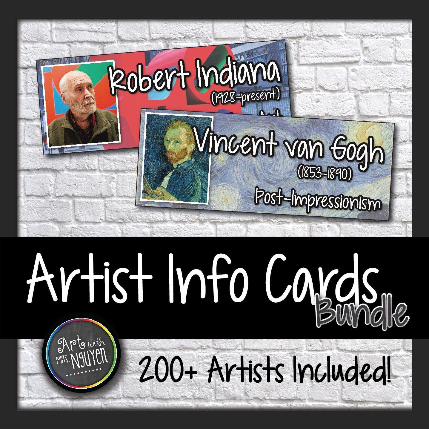 200 Artist Cards Modern Art Movement