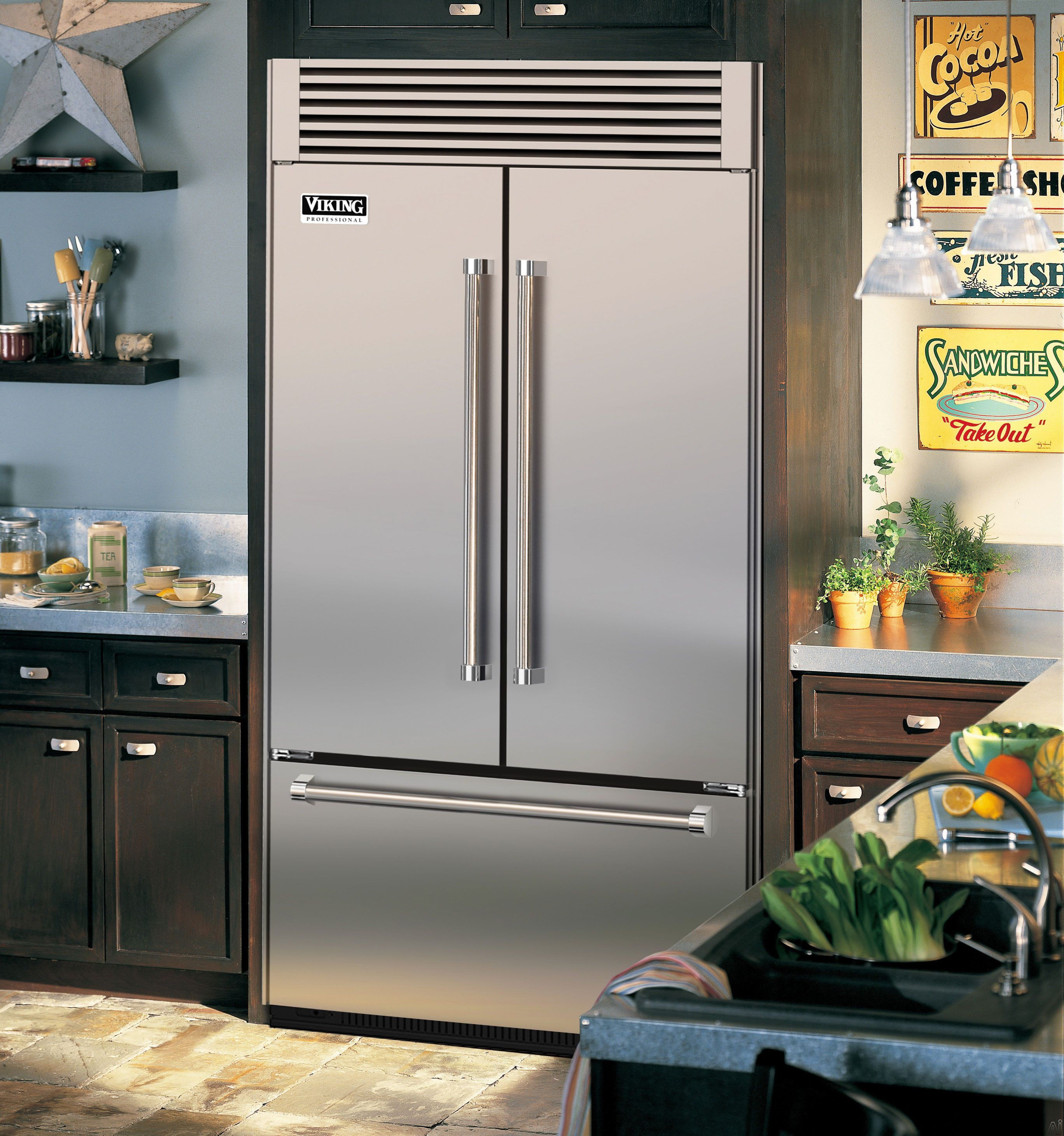 Viking Vtb5420ss 42 Quot Built In French Door Refrigerator