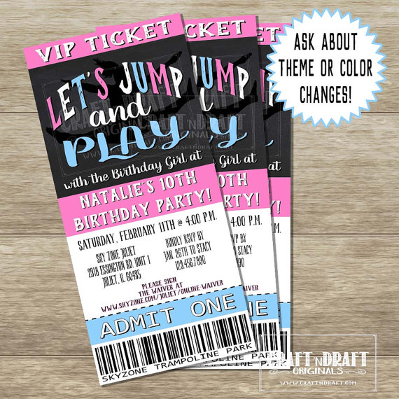 Printable Girls Birthday Invitation Ticket