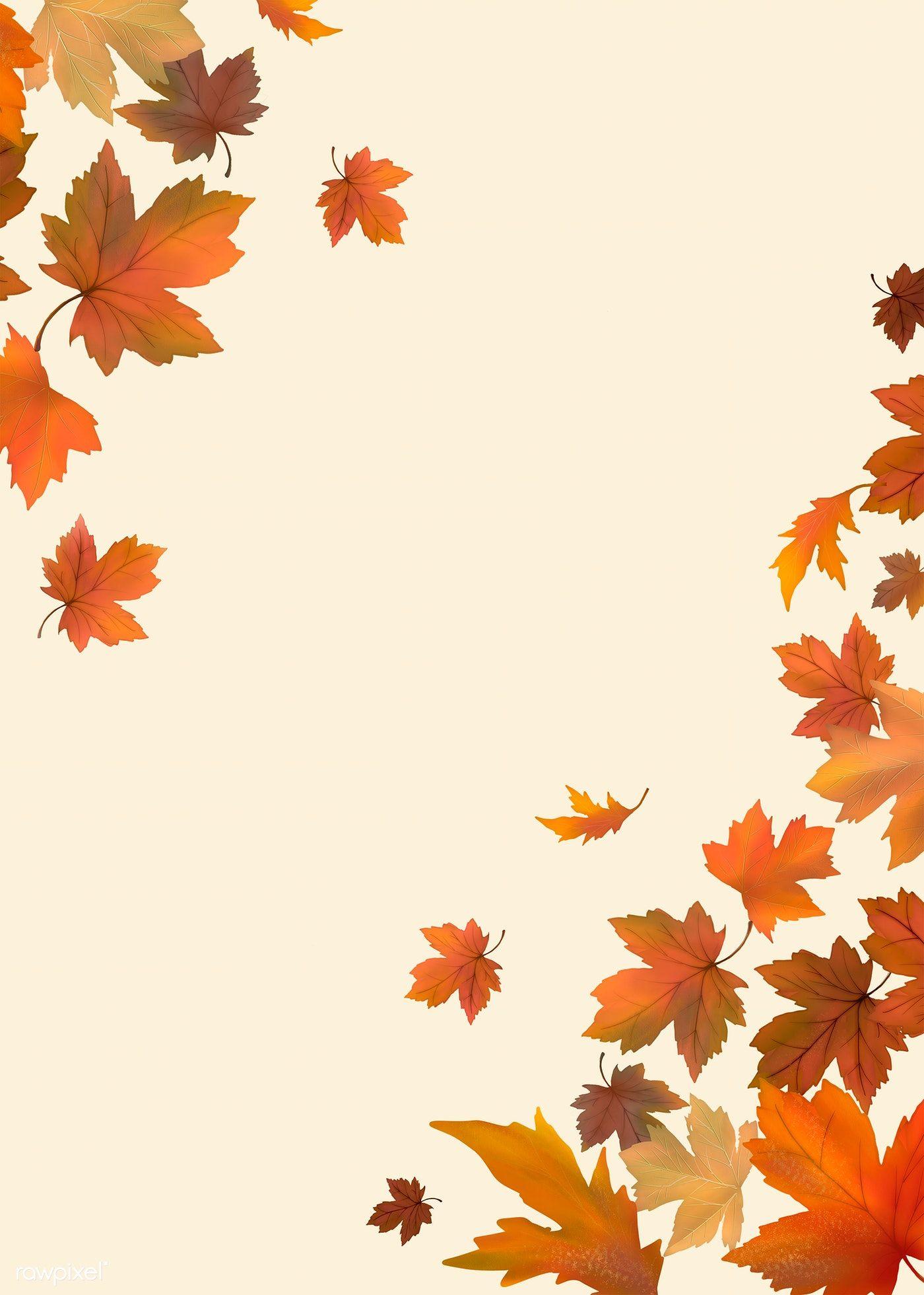 Download Premium Illustration Of Red Maple Leaf Framed Background Maple Leaf Art Maple Leaf Images Flower Background Wallpaper