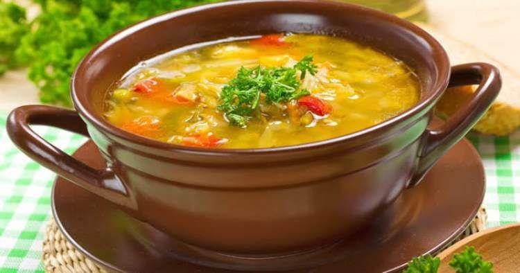 sopa para comer a vontade