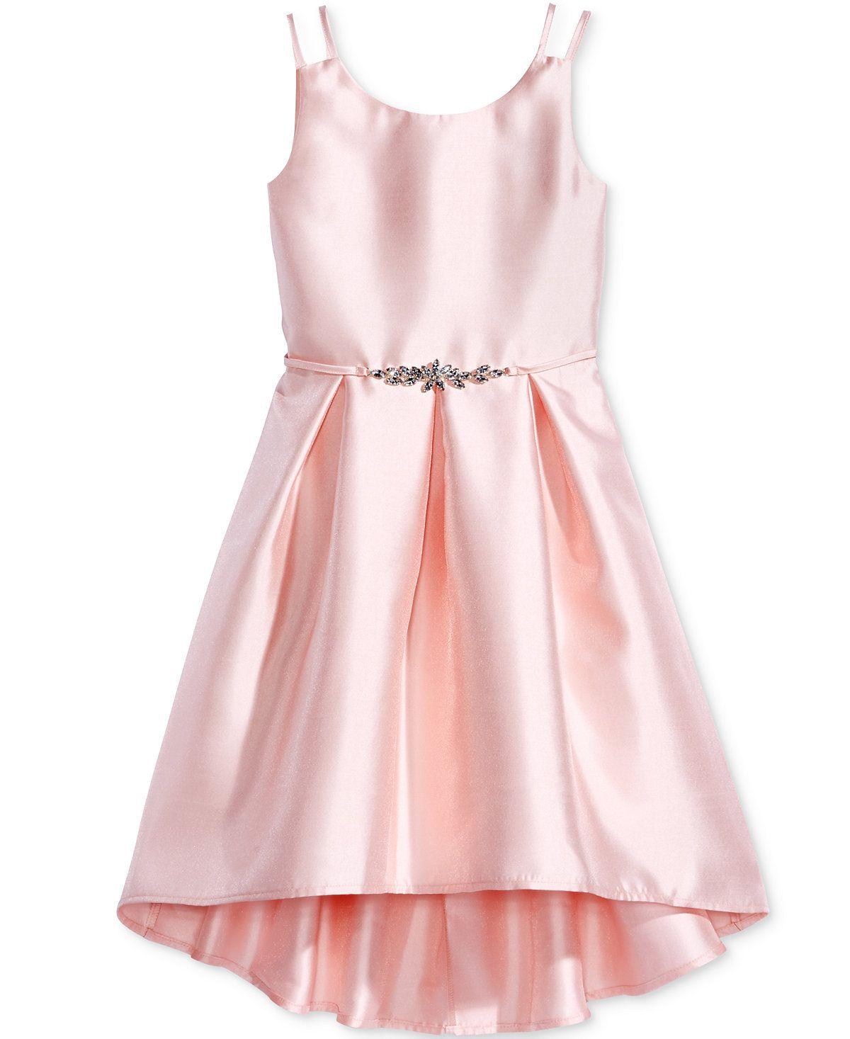 Pink Violet Satin Dress Big Girls 7 16 Girls Dresses Kids