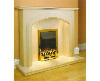 Aurora Lincoln Marble Fireplace in Roman Stone | Fireplace World ...
