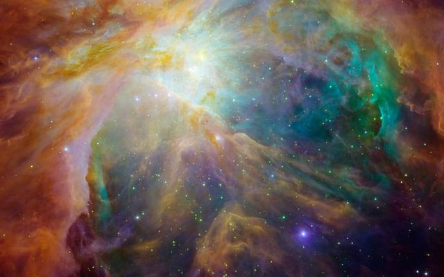 This picture is in Public Domain. orion nebula, emission nebula