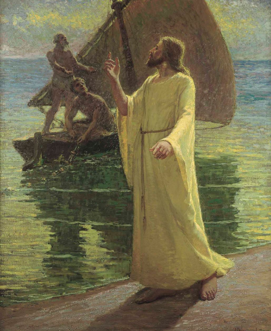jesus christ walks on the seashore and beckons to peter and andrew to become his apostles fi pictures of jesus christ images of christ jesus pictures pinterest