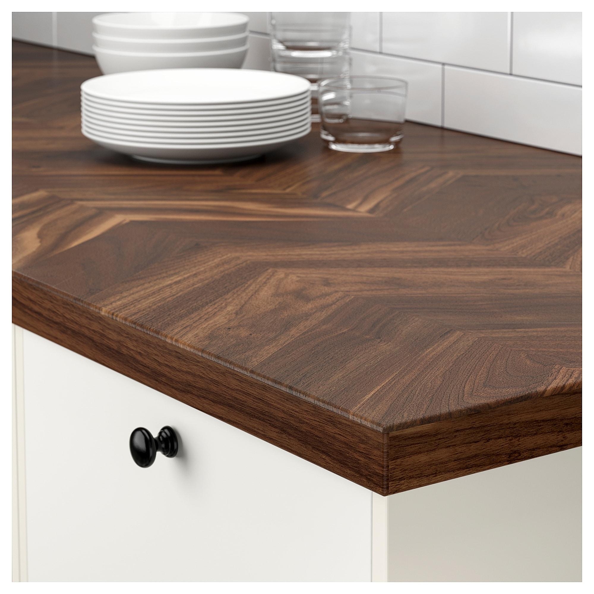 Barkaboda Countertop Walnut Veneer 98x1 1 2 249x3 8 Cm Kitchen Countertops Countertops Wood Kitchen Counters