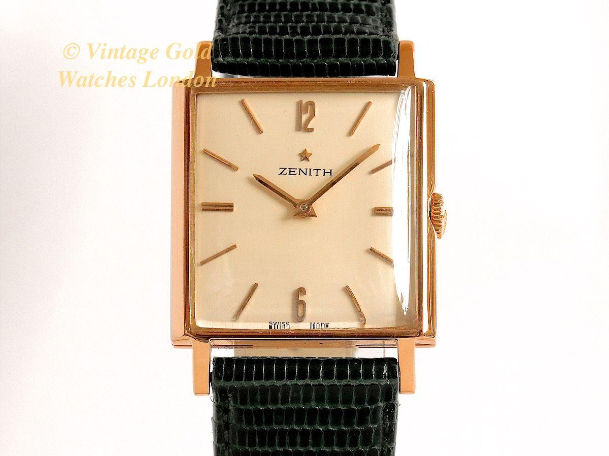 Zenith k pink gold classic unisex vintage gold watches