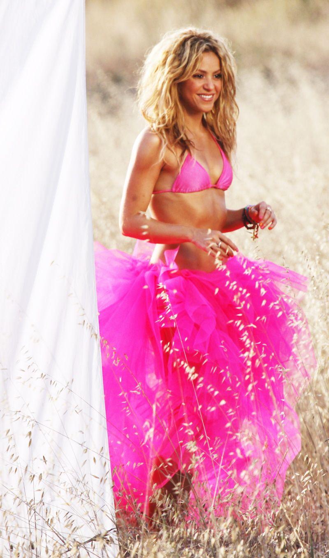 Shakira tulle hot pink bikini   Aspirational Fashion   Pinterest