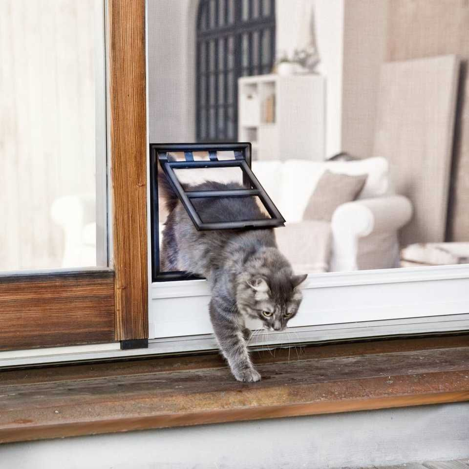 Fly Screen Door Cat Flap Http Thefallguyediting Com  # Meuble Tele Fly Beton Cire