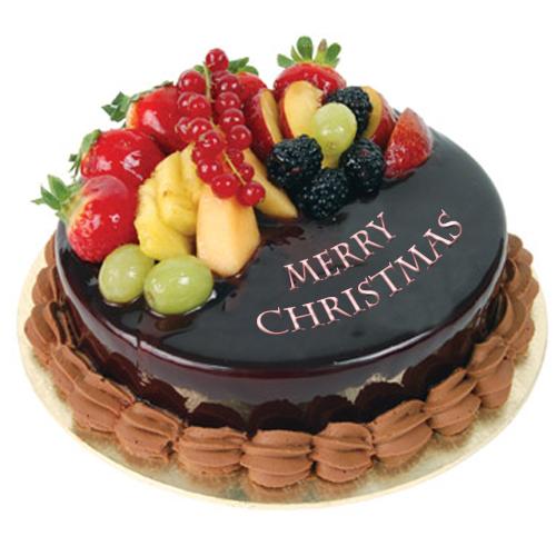Astonishing Christmas Fruit Cake With Images Fruit Cake Christmas Cake Funny Birthday Cards Online Inifodamsfinfo