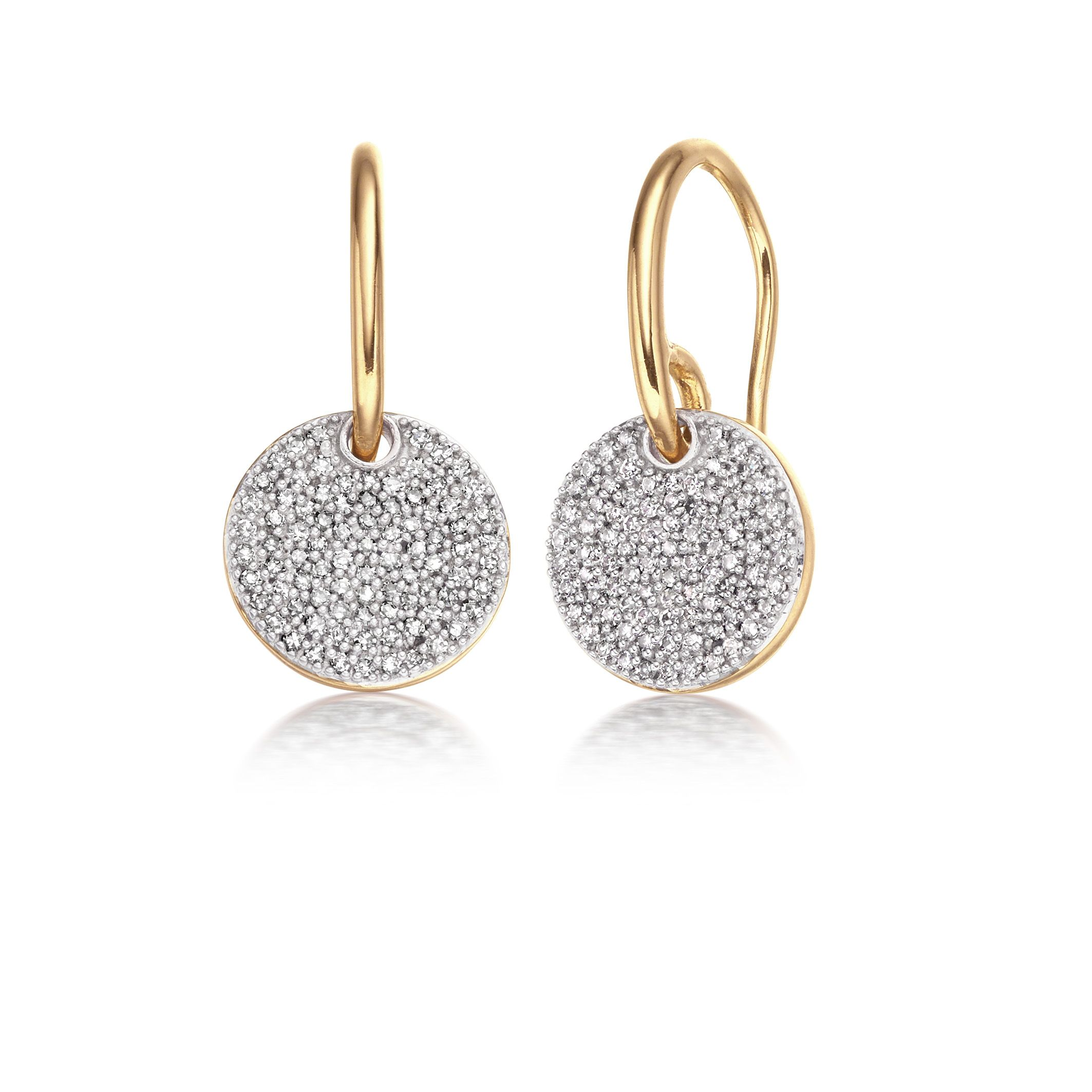 Dazzle Him In Your Everyday Diamonds With Monica Vinader Ava Diamond Disc Earrings Monicavinader