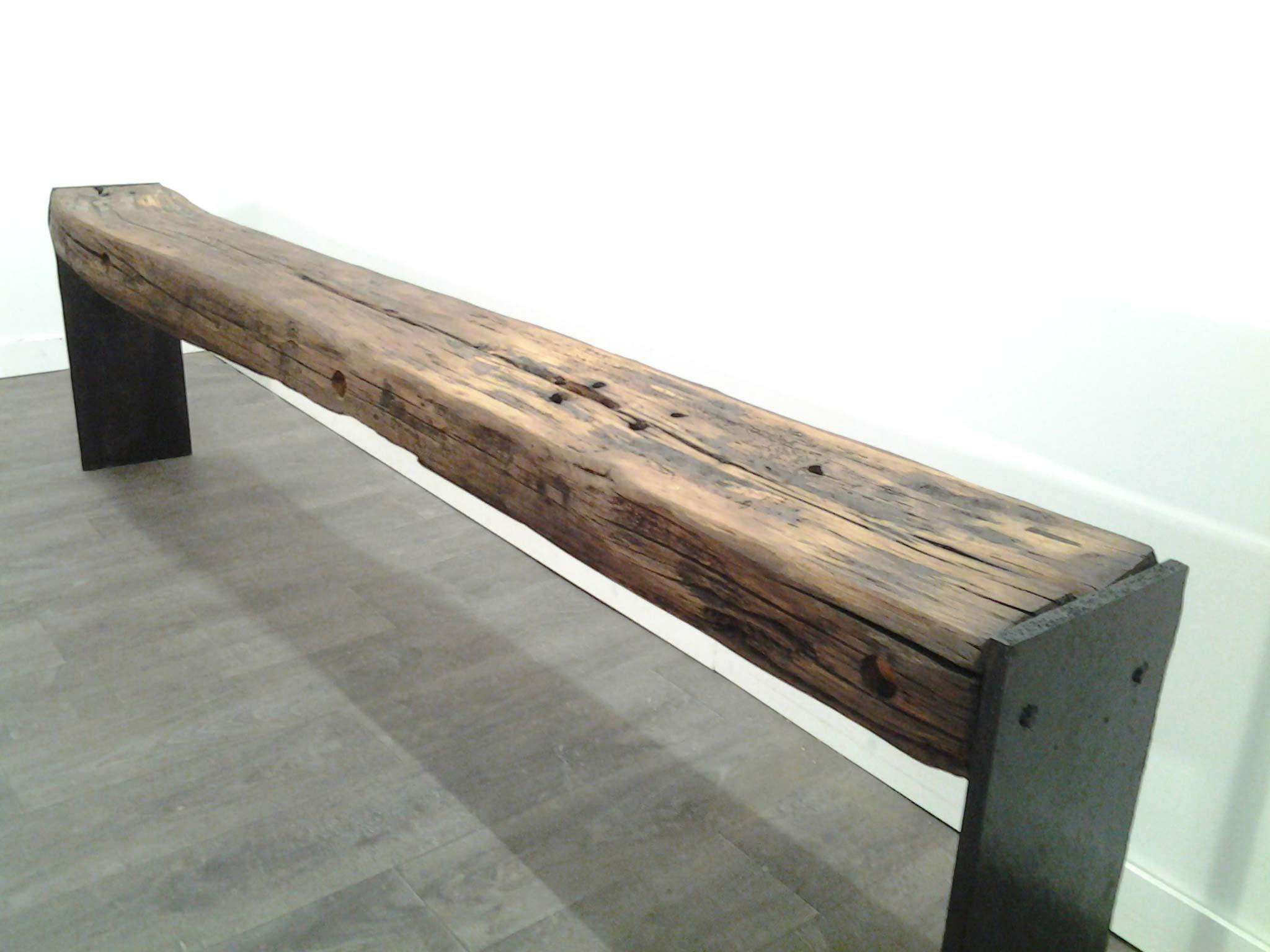banc poutre ch ne mobilier d coration bois brut pinterest poutre chene poutres et bancs. Black Bedroom Furniture Sets. Home Design Ideas