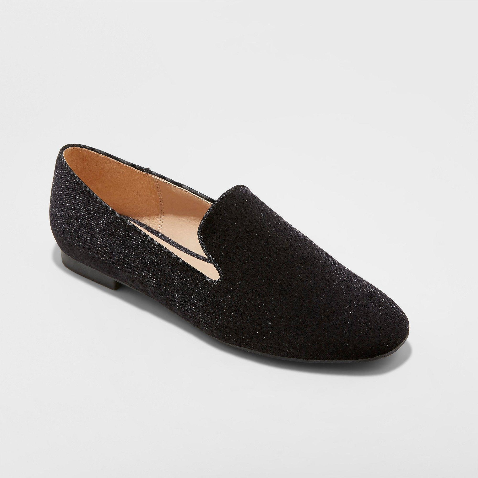 50708465049 Women s Trinity Velvet Smoking Loafers - A New Day Black 6.5 ...