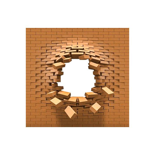 Broken Brick Wall Png Liked On Polyvore Featuring Backgrounds Frames
