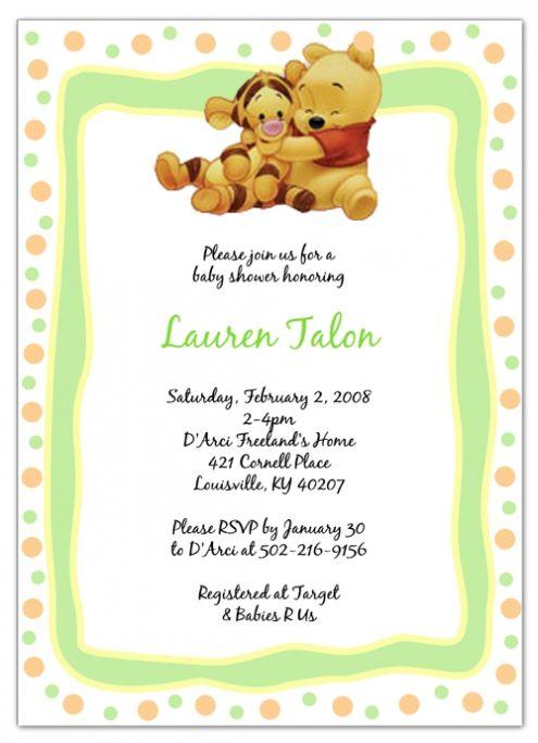 Pooh Bear Baby Shower Invitations Dreaded Invitation Templates For