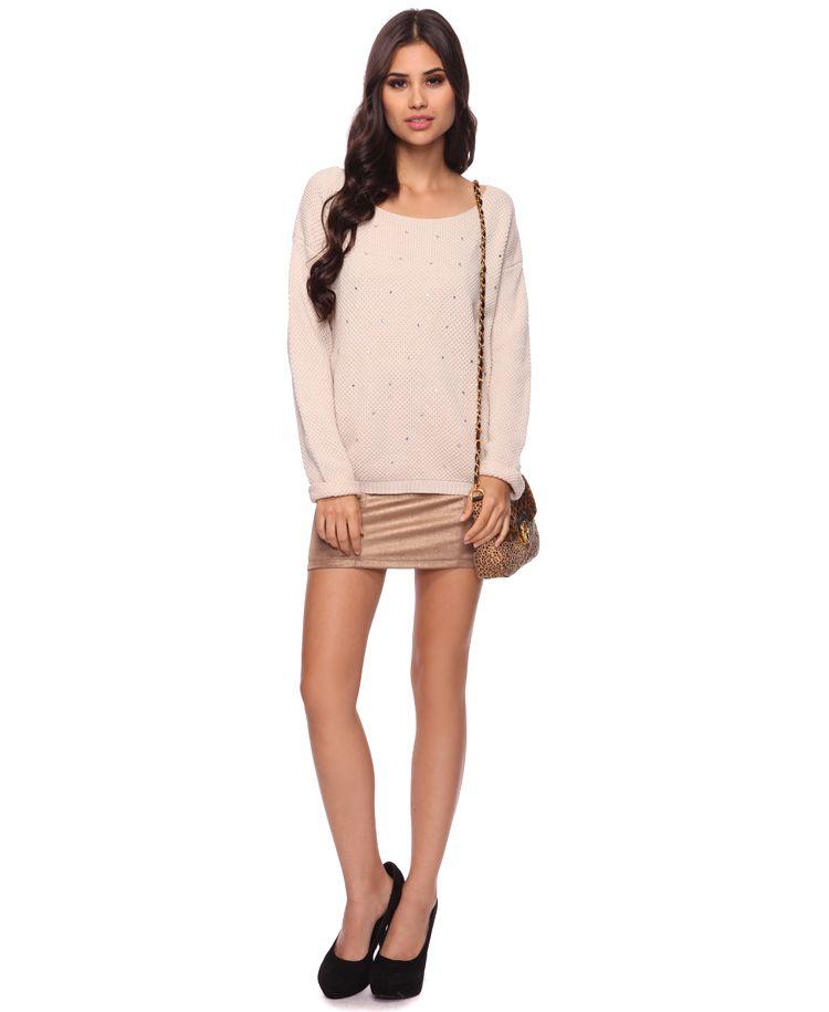 Embellished Chunky Sweater