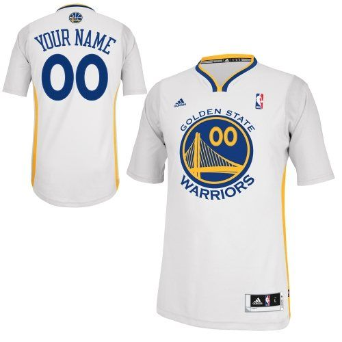 brand new 1a56a f0401 -Buy 100% official Adidas Men s Swingman White Jersey Customized NBA Golden  State Warriors Alternate Free Shipping.
