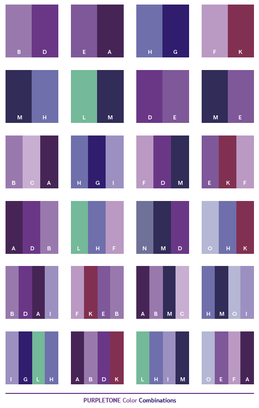 Purple Color Combinations on Pinterest | Red Color Combinations, Blue ...