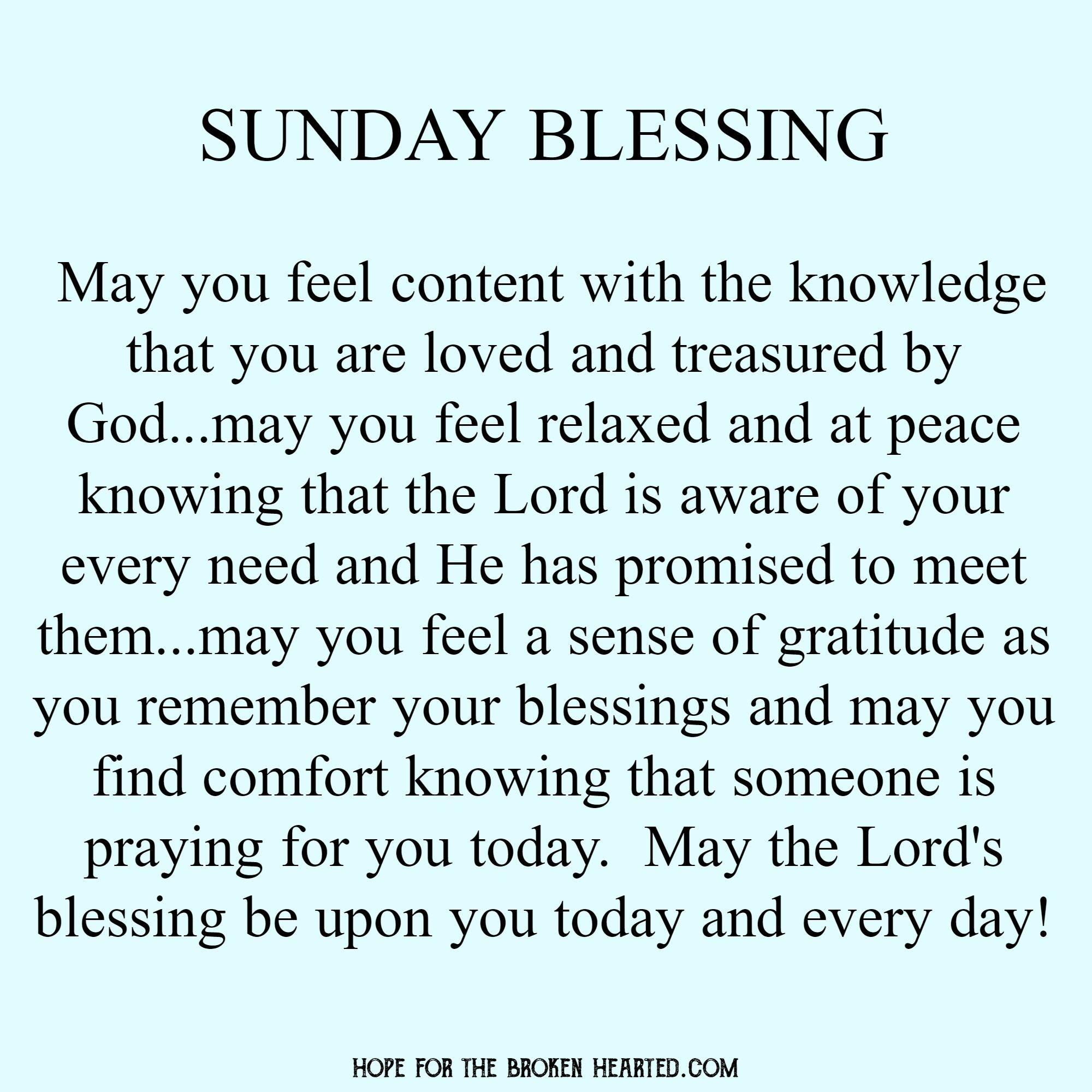 Sunday blessing | Sunday prayer, Good morning prayer, Everyday prayers