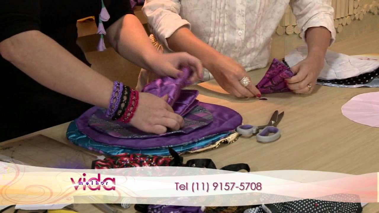 Vida Melhor - Artesanato: Porta-jóia de tecido (Drika Satkunas)