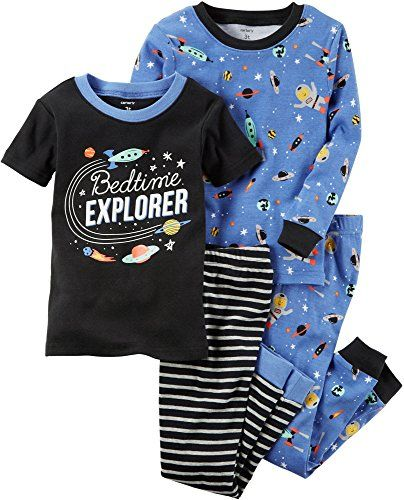 74337d867 CARTER S Boys  12M-8 4 Piece SPACE Print Pajama Set - Size 12 Months ...