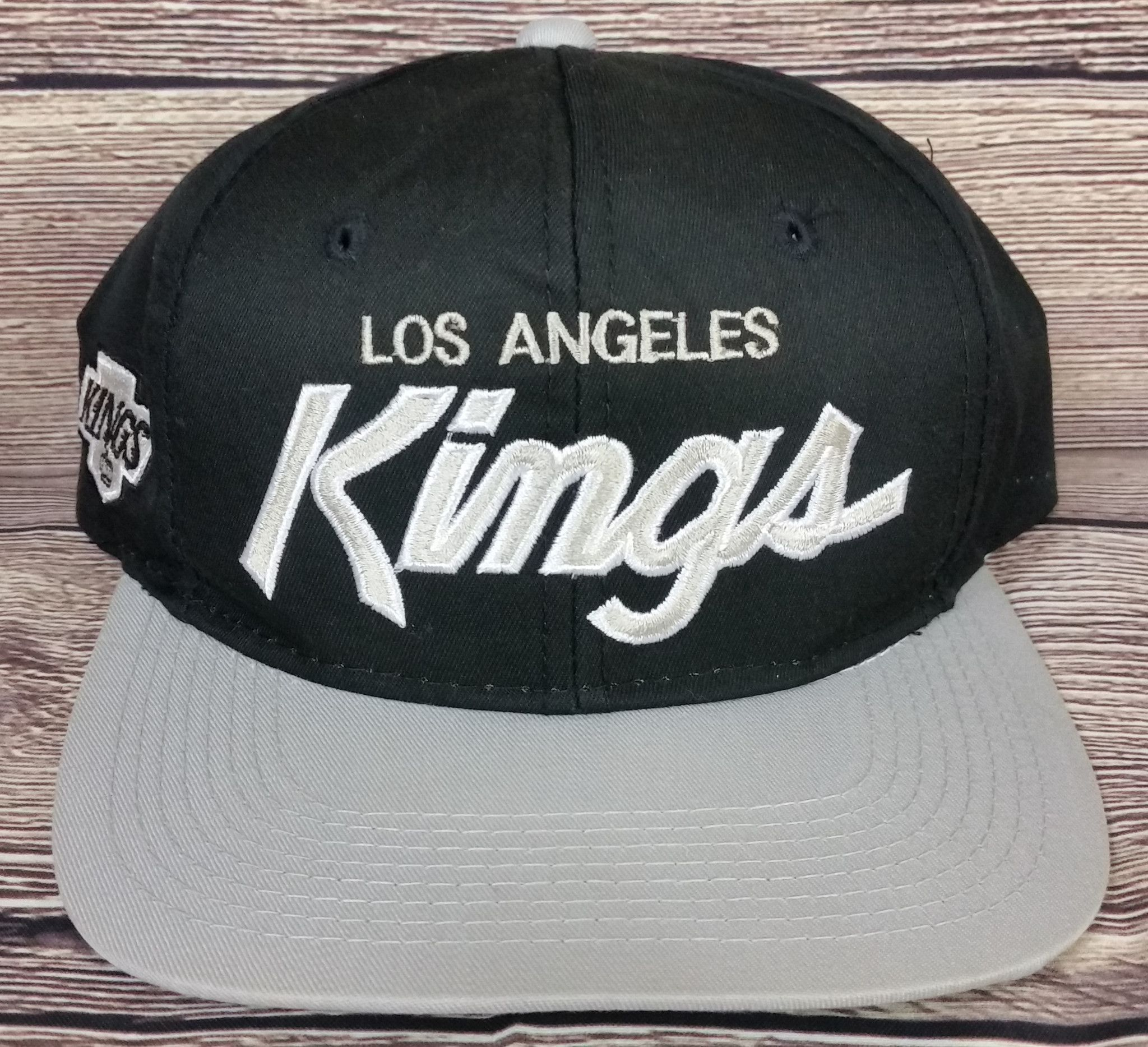 Los Angeles Kings Vintage Snapback Sports Specialties Script Hat Twill NHL Rare