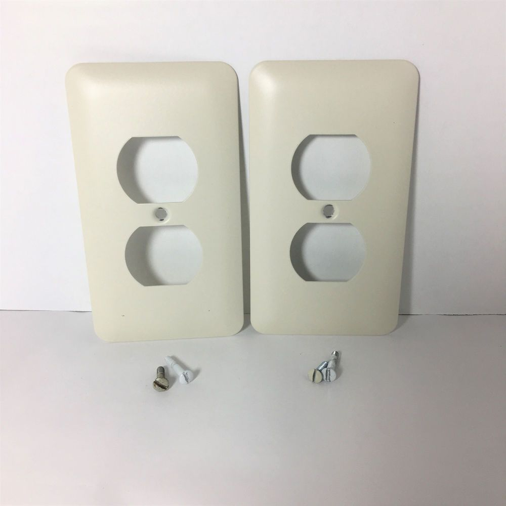 Outlet Cover Plates Extraordinary Amertac Lot Of 2 Beige Flush Devise Power Outlet Cover Plates Design Inspiration