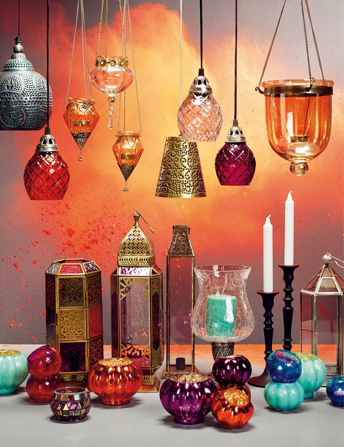 Plain ljuslykta guld indiska shop online orient dekoration marokkanischer stil und for Marokkanische dekoration