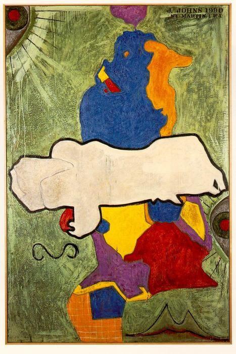 'Green Angel' by Jasper Johns