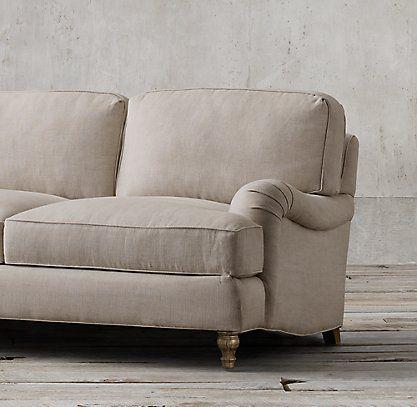 English Roll Arm Rh Upholstered Sofa English Sofa Sofa Sale