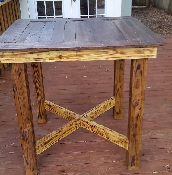 Pallet High Top Bar Table Pub Table High Top Dining Table Pallet Dining Table High Top Bar Table