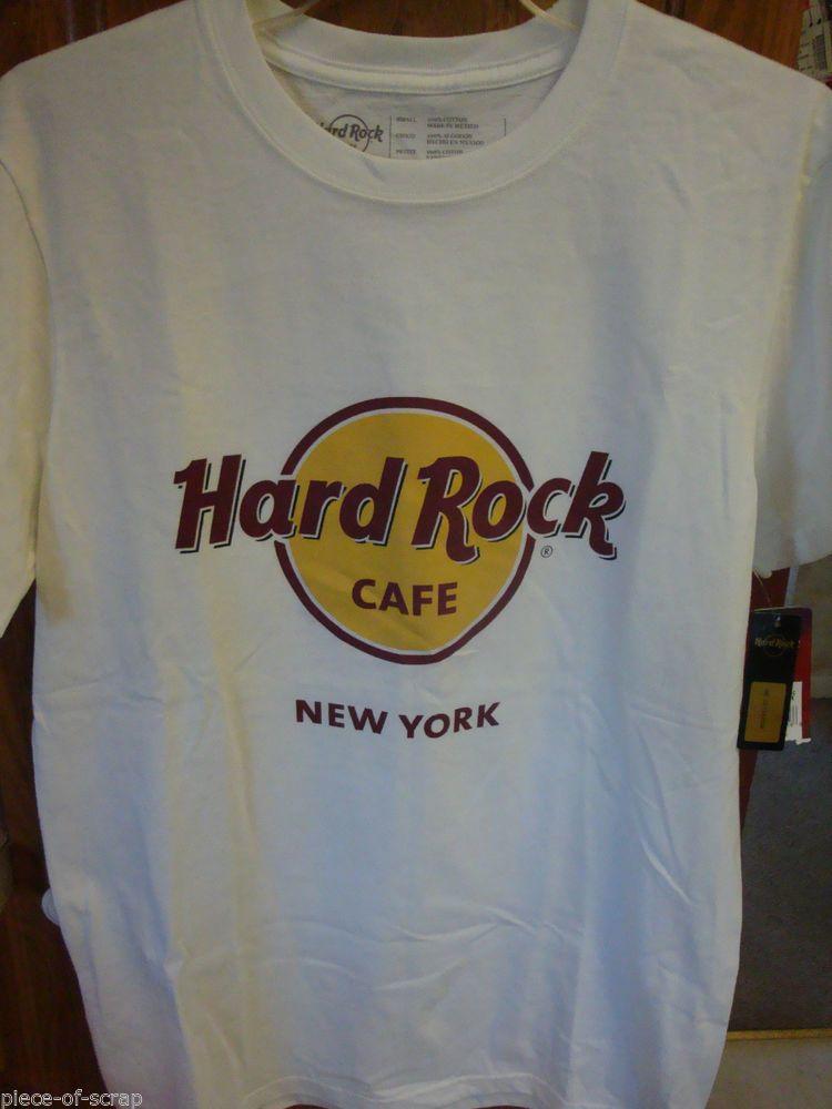 New Hard Rock Café Shirt SMALL S Mens Classic HardRockCafe New York White  NWT  HardRockCafe  hardrock 7e8c3a5f30a