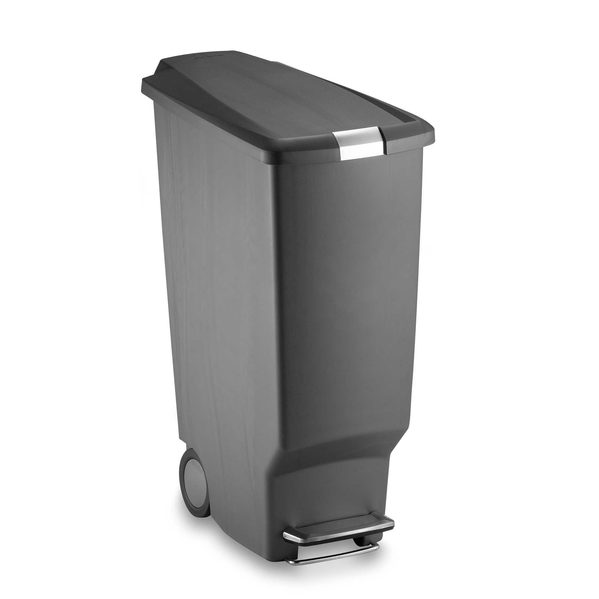 Best Simplehuman® Slim Plastic 40 Liter Step On Trash Can 640 x 480