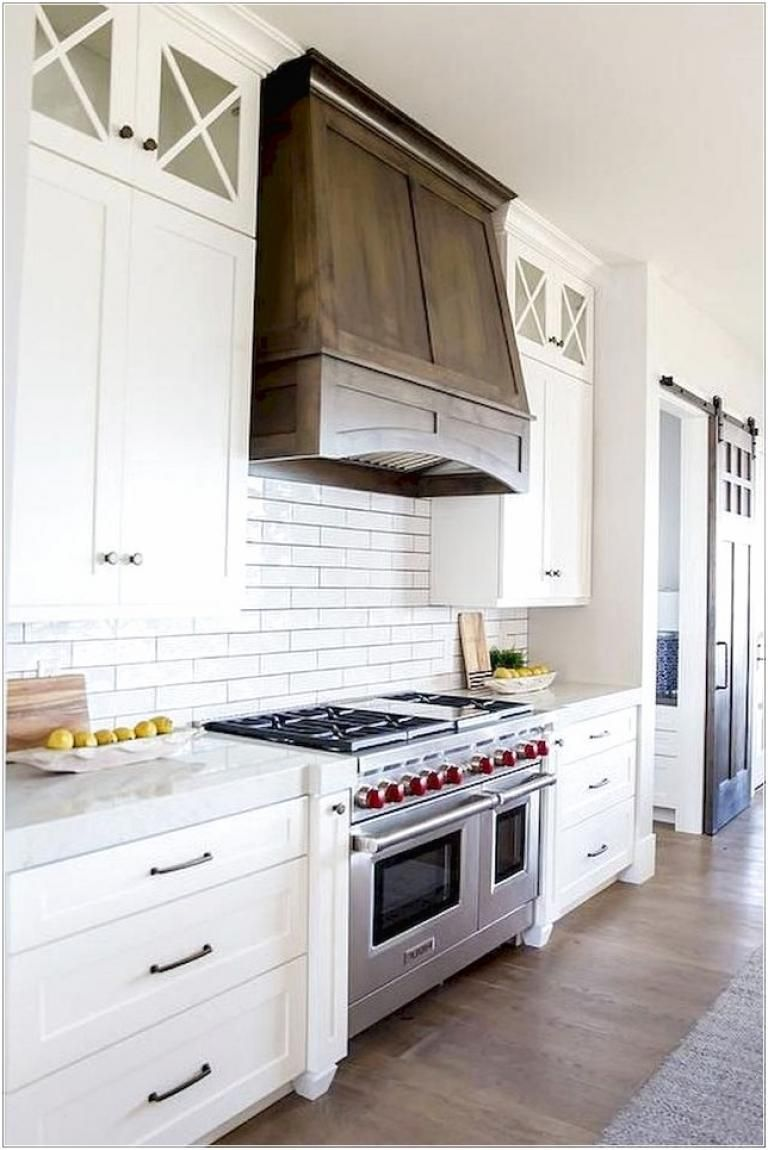 40 Classic Elegant Wood Hood Kitchen Makeover Ideas