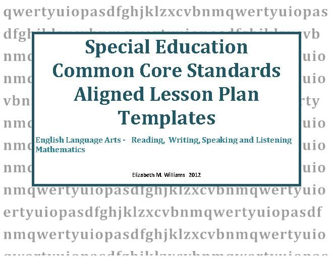 TeacherlingoCom   Special Education Lesson Plan Templates