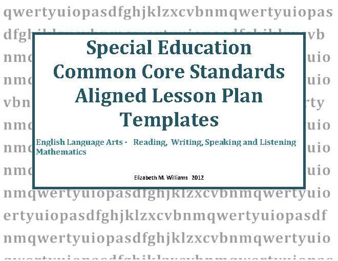 Teacherlingo 000 Special Education Lesson Plan Templates