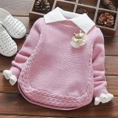 Photo of Baby Girl Winter Sweater Collar Children Clothing Baby Knit Sweater Spring Autumn Girls Sweater Kids Cloth Infant Girls Clothes
