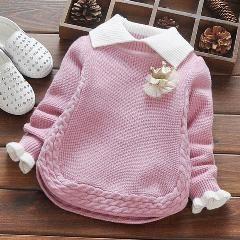 Photo of Baby Mädchen Winter Pullover Kragen Kinder Kleidung Baby …