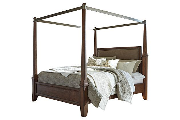 Ashley Furniture Warehouse-Medium Brown Mardinny King Poster Bed  sc 1 st  Pinterest & Ashley Furniture Warehouse-Medium Brown Mardinny King Poster Bed ...