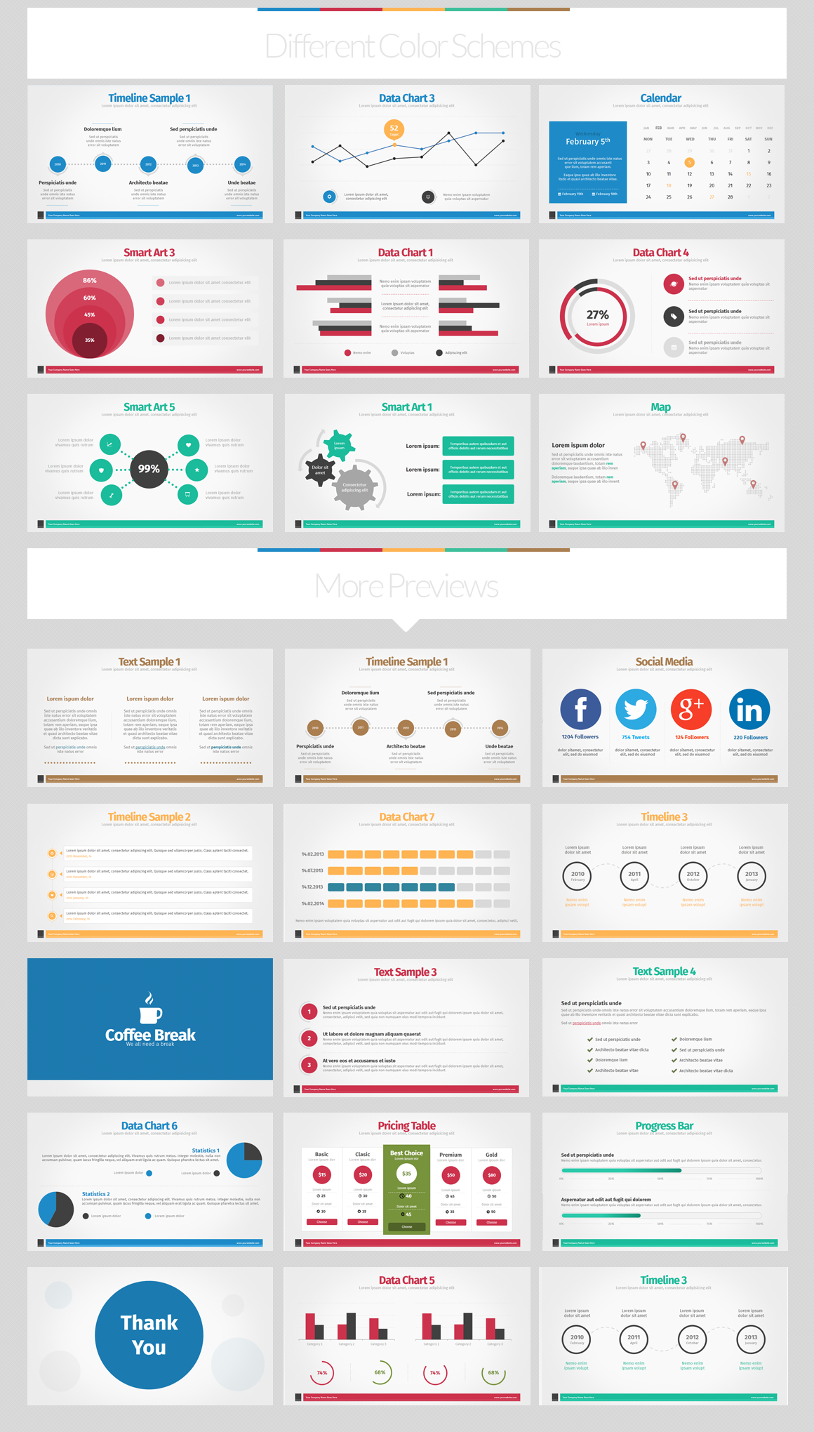 Note Flat Style PowerPoint Template by Creative Fox on Creative ...