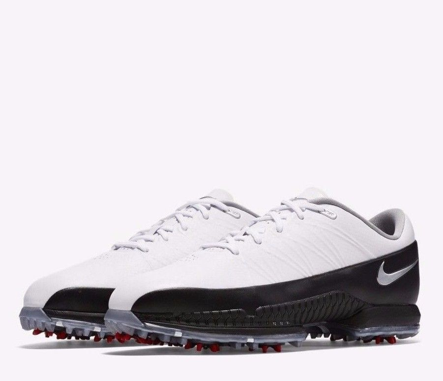 3f97504a1d3b7 Nike AIR ZOOM Attack Mens Golf Shoes 9.5 Wide White Black Silver 860943 101   Nike