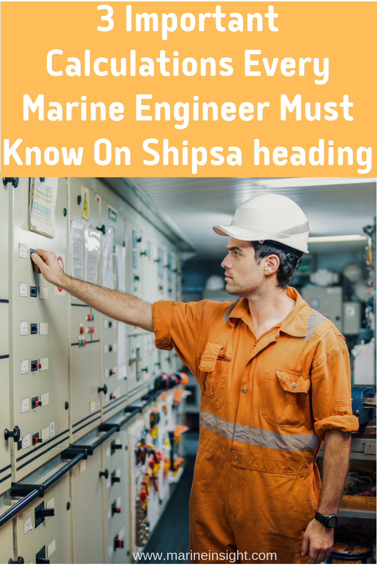 Navy Ship Engine Room: 3 Important Calculations Every Marine Engineer Must Know