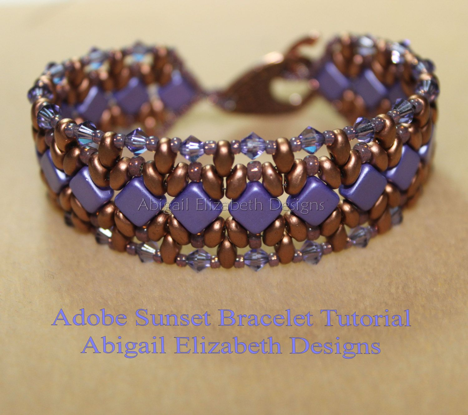 Adobe Sunset Bracelet Tutorial-Personal Use by AbigailEDesigns