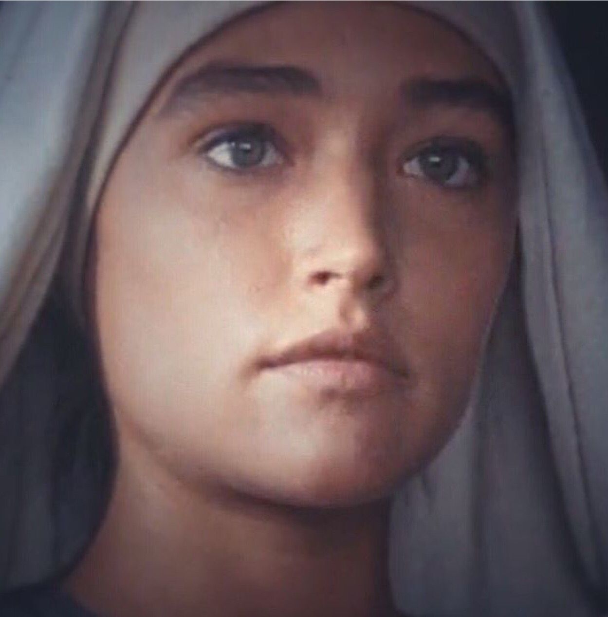 Beautiful Olivia Hussey As Mary In Jesus Of Nazareth Olivia Hussey Jesus Movie Madonna And Child
