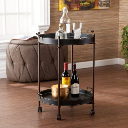 Charming Southern Enterprises Phipps Round Two Tier Wine Butler Table   The Phipps  Two Tier Round Wine Butler Table By Southern Enterprises Is An Eye Catching  Piece.