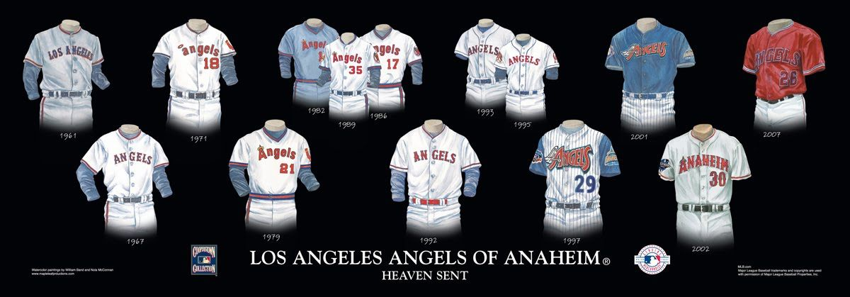 Los Angeles Angels Of Anaheim Uniform And Team History Los Angeles Angels Texas Rangers Texas Rangers Outfit